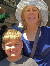 Griffin and Carol at Pike Place Market.