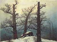 雪の中の巨石墳墓