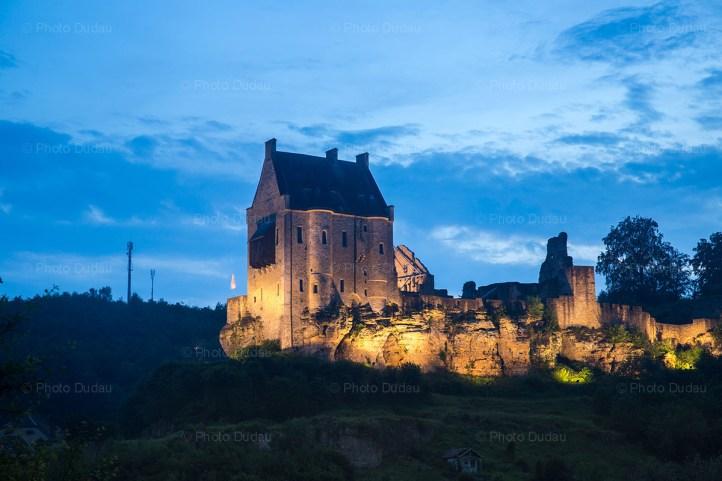 Larochette Castle by night, Luxembourg