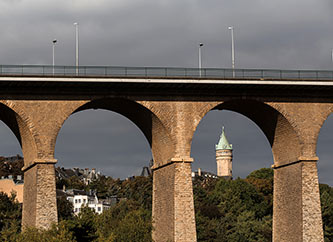 Passerelle Bridge and Spuerkees Tower