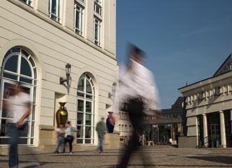 administrative buildings in Cite Judiciare in Luxembourg city.