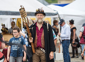 SteamPunk convention in Echternach, Luxembourg
