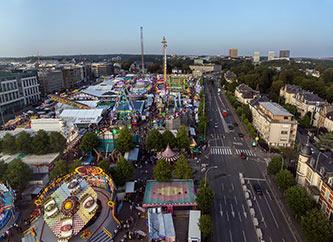 Schueberfouer fun fair in Luxembourg city