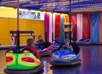 bumping cars at Schueberfouer 2017 fun fair