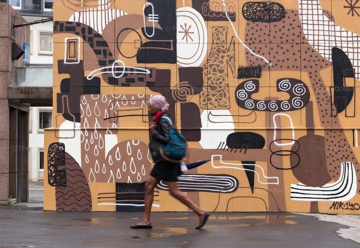 Graffiti wall in Luxembourg
