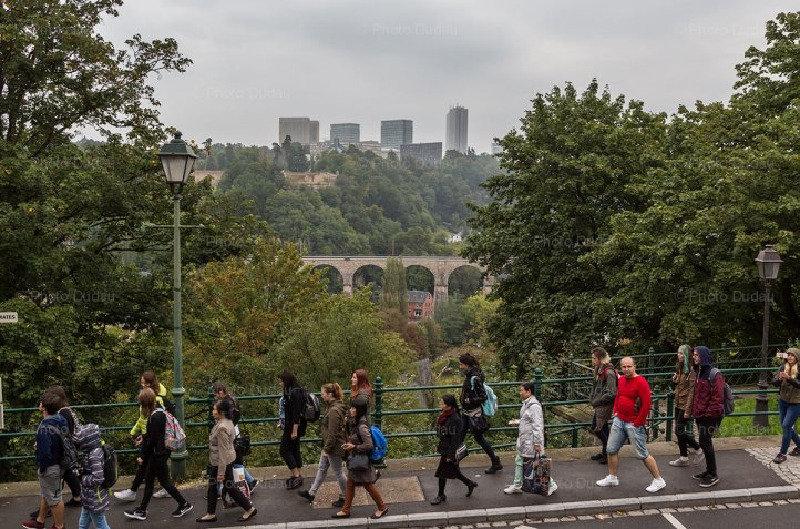 Tourists in Luxembourg city