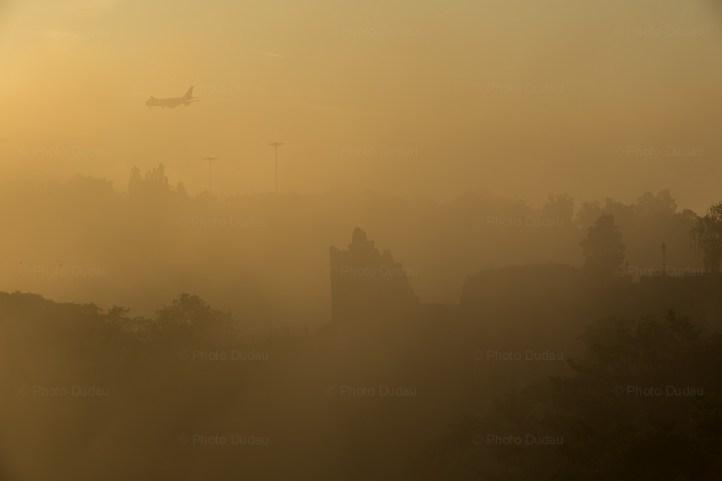airplane over huelen zant luxembourg