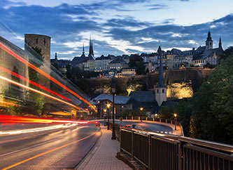 luxembourg cityscape night
