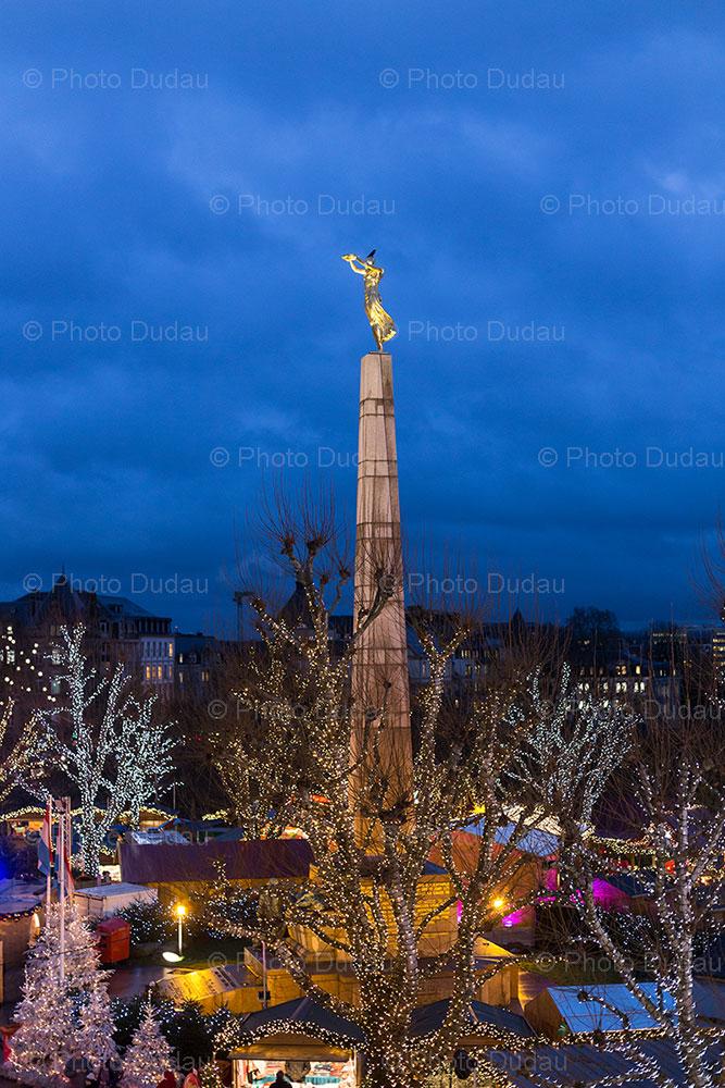 luxembourg christmas market - gelle fra