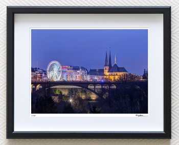 luxembourg christmas market art print