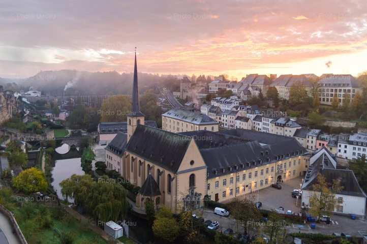 Old Luxembourg at sunrise