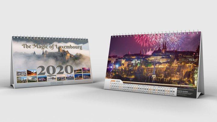 Luxembourg 2020 desk calendar