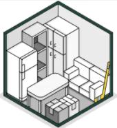 Taille L soit 9 m² ou 25 m3 pour stocker 4 à 5 pièces