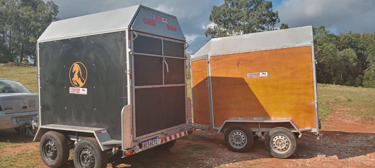 Carretinha Carga Viva para transporte de até 2 animais