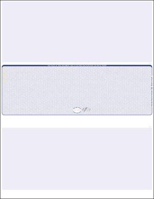 Middle Blue Hologram Blank Laser Check WLSTK2SVHBL