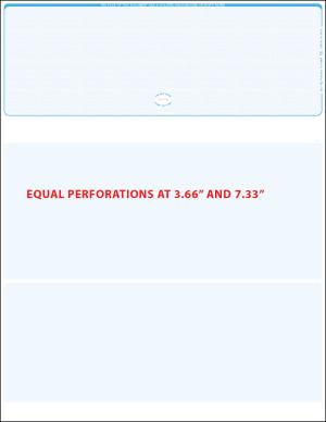 top blue linen equal perforation blank laser check