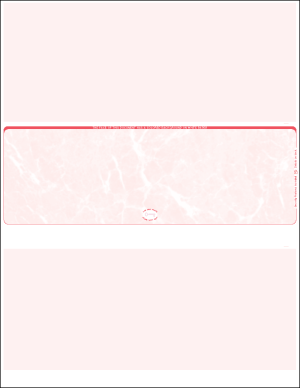 RED marble middle Blank Laser Check