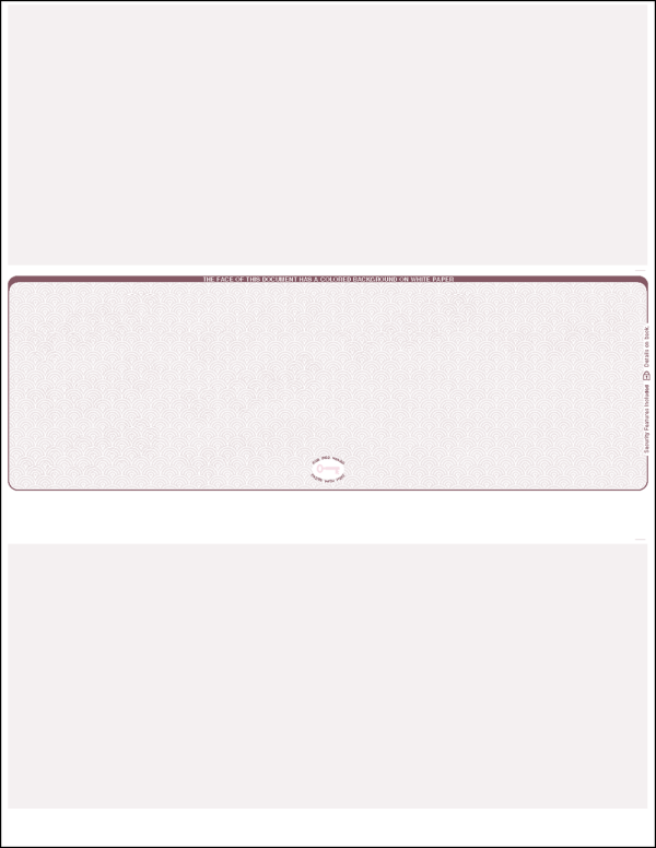 Burgundy Scallop Void Middle Blank Laser Check