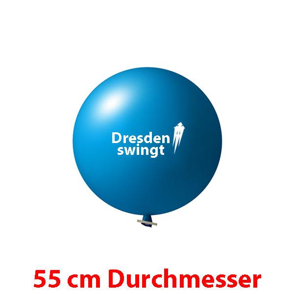 55 cm Riesenballons bedruckt 1 oder 2 farbig ab 10 Stück
