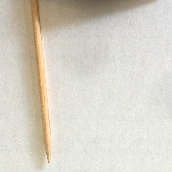 Burgerfähnchen Material Holzspitze