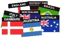 Aufkleber, Länderaufkleber, Sticker Länder,Staaten, Nationen,Motive
