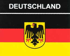 Aufkleber Deutschland Adler Flagge