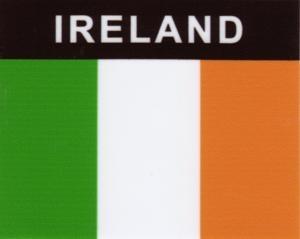 Aufkleber Irland, Länderaufkleber, Nationalflagge, Autoaufkleber
