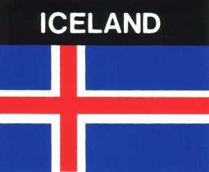 Aufkleber Island Flagge