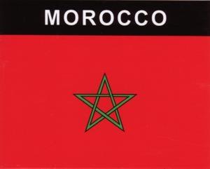 Aufkleber Marokko, Länderaufkleber, Nationalflagge, Autoaufkleber