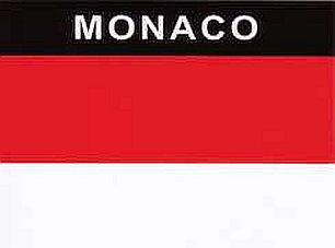 Aufkleber Monaco, Länderaufkleber, Nationalflagge, Autoaufkleber