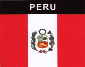 Aufkleber Peru, Länderaufkleber, Nationalflagge, Autoaufkleber