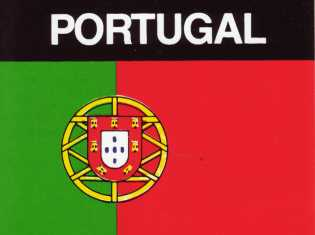 Aufkleber Portugal, Länderaufkleber, Nationalflagge, Autoaufkleber