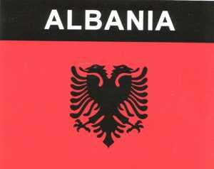 Aufkleber Albanien, Länderaufkleber, Nationalflagge, Autoaufkleber
