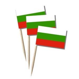 Bulgarien Käsepicker, Minifahnen, Zahnstocherfähnchen