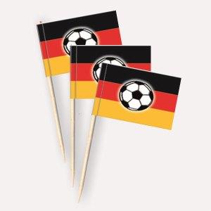 Deutschland Fußball Käsepicker, Minifahnen, Zahnstocherfähnchen