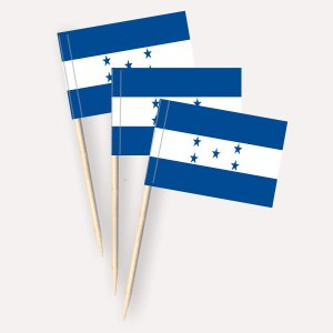 Honduras Käsepicker, Minifahnen, Zahnstocherfähnchen