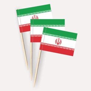 Iran Käsepicker, Minifahnen, Zahnstocherfähnchen