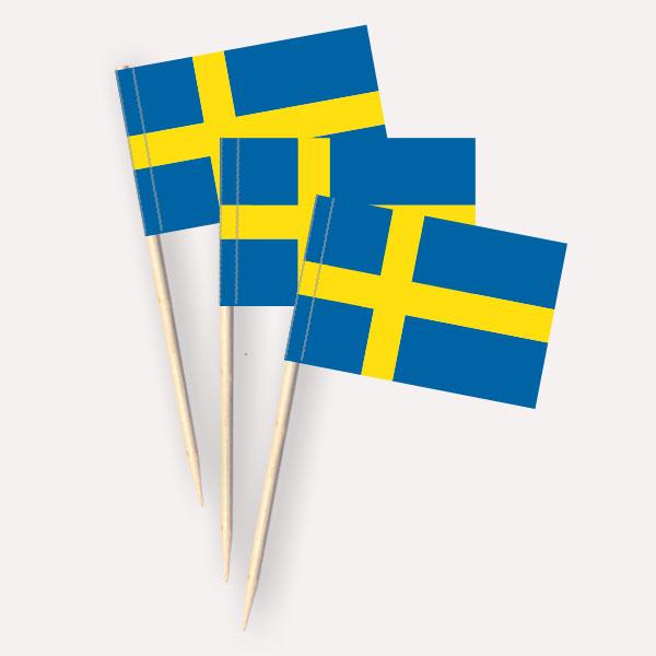 Käsepicker Schweden | Minifahnen Zahnstocherfähnchen