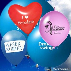 Luftballons, Riesenluftballons,Herzluftballons, Werbeluftballons mit Druck