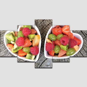 Canvas Print Split Panels (5 in 1) – Fruit Dish