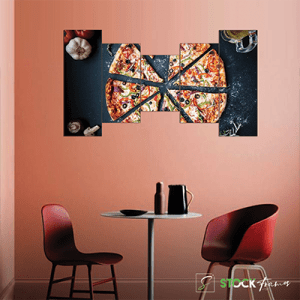 Canvas Print Split Panels (5 in 1) – Pizza