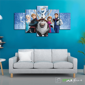 Canvas Print Split Panels (5 in 1) – Super Heros
