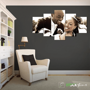 Canvas Print Split Panels (5 in 1) – Newly Wedded