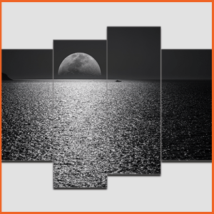 Canvas Print Split Panels (4 in 1) – MoonLight