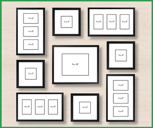 GALLERY WALL PICTURES LAYOUT