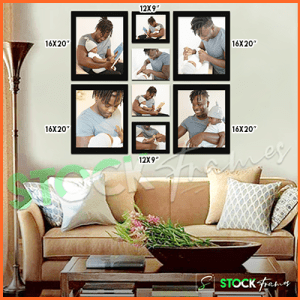 Canvas Prints Gallery Set Panels – 8 Images in 8 Frames