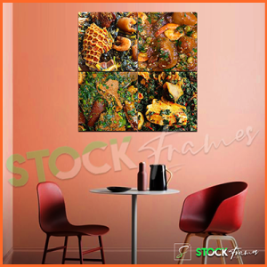 Canvas Prints Split – 4 Square Panels (For Eateries)