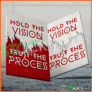Canvas Prints Single Panels (Hold The Vision) – 18×24 etc.