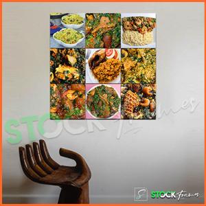 Canvas Prints Split – 9 Square Panels (For Eateries)
