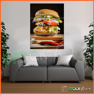 Canvas Prints Triptych – (3 Piece Shawarma Wall Art)